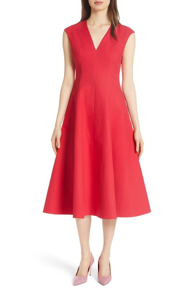 Structured Midi Dress Main Color Lingonberry Jersey Knit Dress Cotton Midi Dress Dresses [ 1196 x 780 Pixel ]