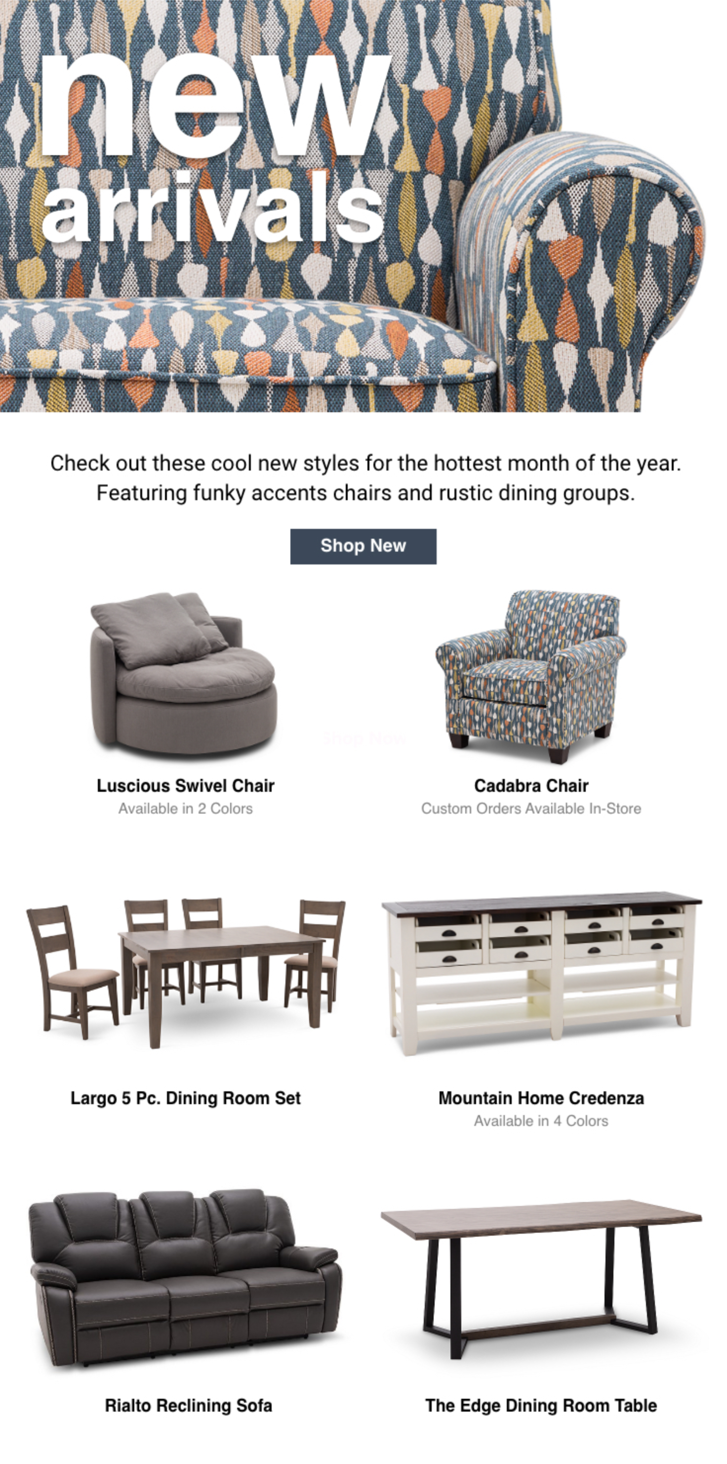 New Arrivals Check Out What S New At Furniture Row Rowe Furniture Furniture Home Decor Trends