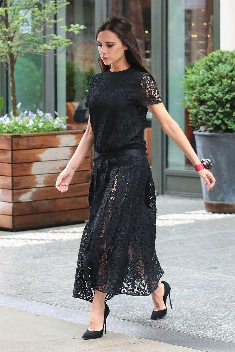 victoria beckham vestido negro
