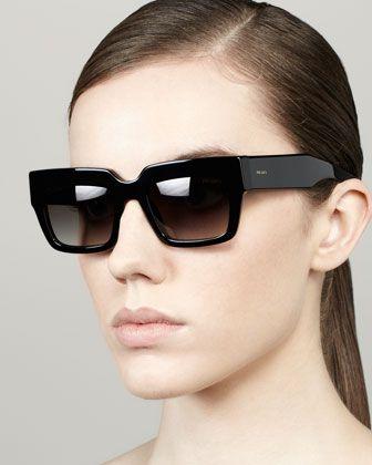 4c7ca12a8d5c Poem Catwalk Square Sunglasses by Prada at Bergdorf Goodman.310
