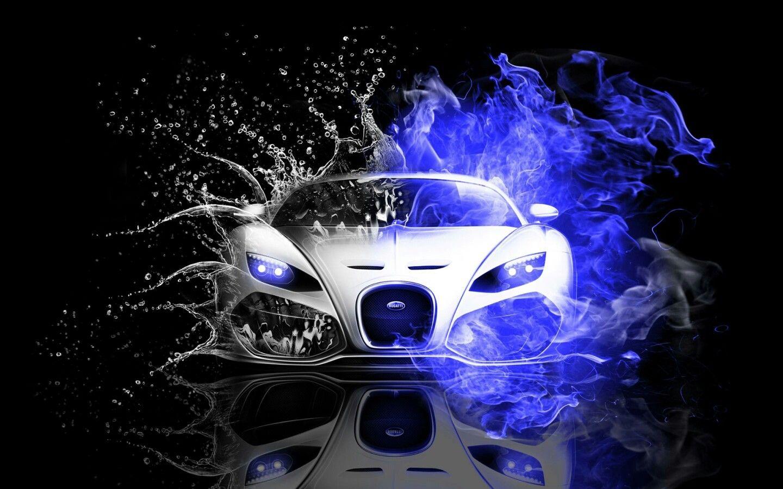 Bugatti Super Car Water Visual Effects Wallpapers Design Inspirations