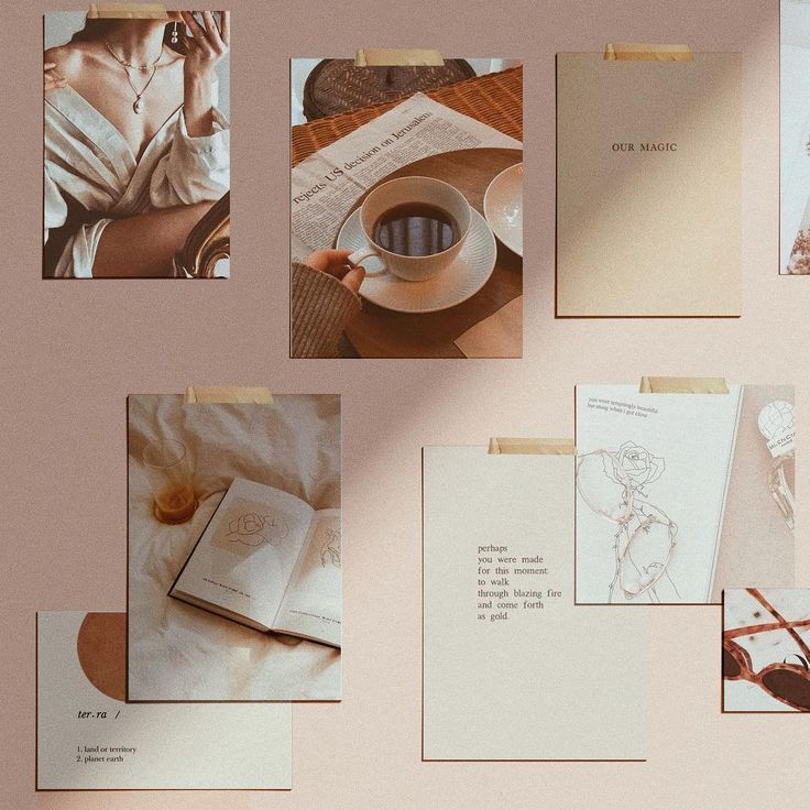 The perfect mood board! Love this wall of graphic design inspiration and the amazing colors. #graphicdesign #designinspiration #colorpalette #moodboard #logodesign #moodboards