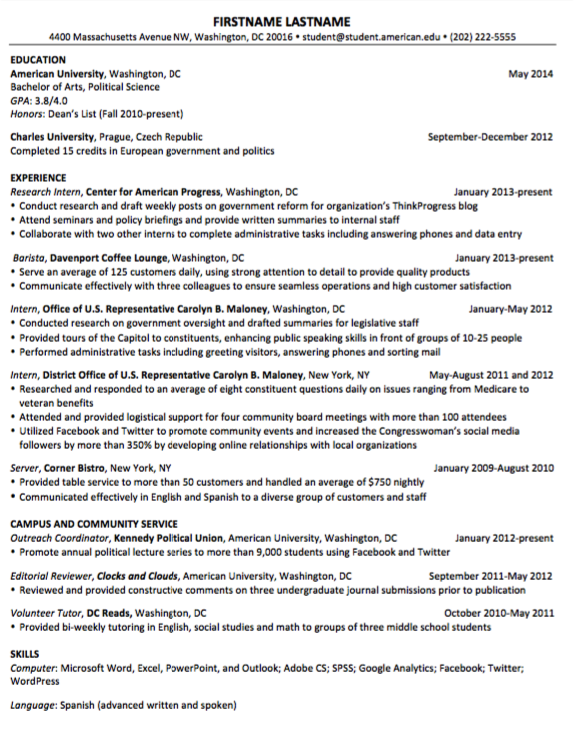 Example Of Resume Barista Examples Resume Cv