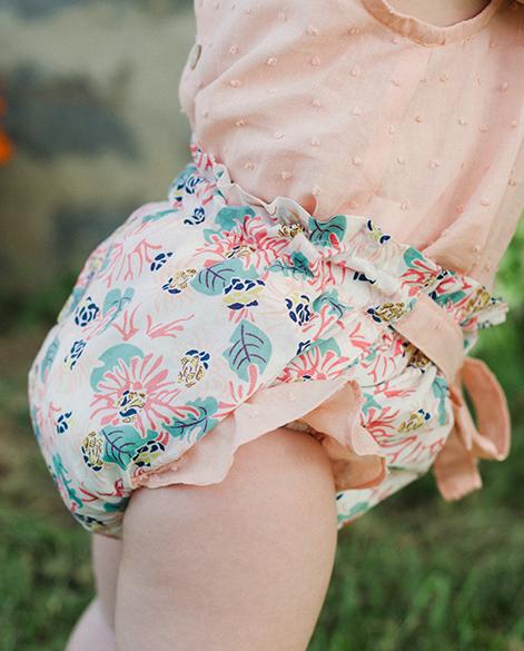 Culotte flores bebé niña | Corazón de león KIDS moda infantil