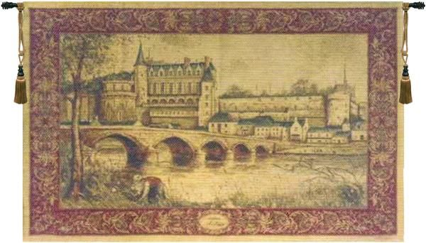 """25/"""" WALL JACQUARD WOVEN TAPESTRY Medieval Chambord Castle EUROPEAN DECOR PICTURE"""