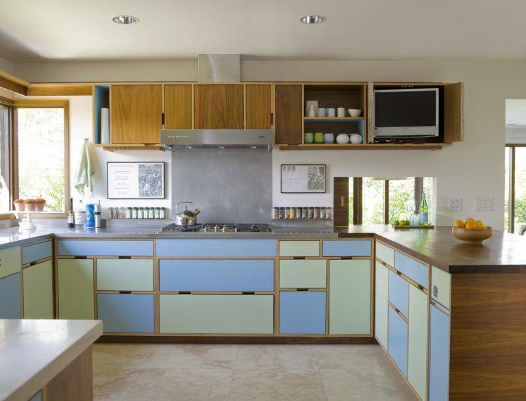 Stylish Design Mid Century Modern Kitchen Cabinets ...