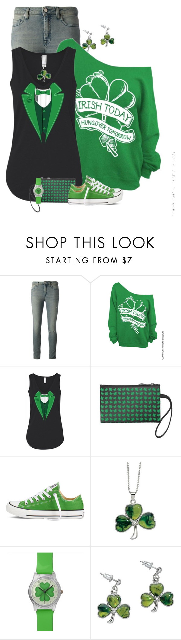 """""""Happy St. Patrick's Day"""" by majezy ❤ liked on Polyvore featuring dVb Victoria Beckham and Converse"""