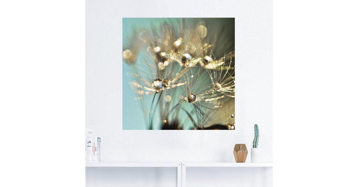 Photo of Buy Artland Wall Foil, Premium Wall Foil »Julia Delgado: Dandelion Shiny Gold« online OTTO