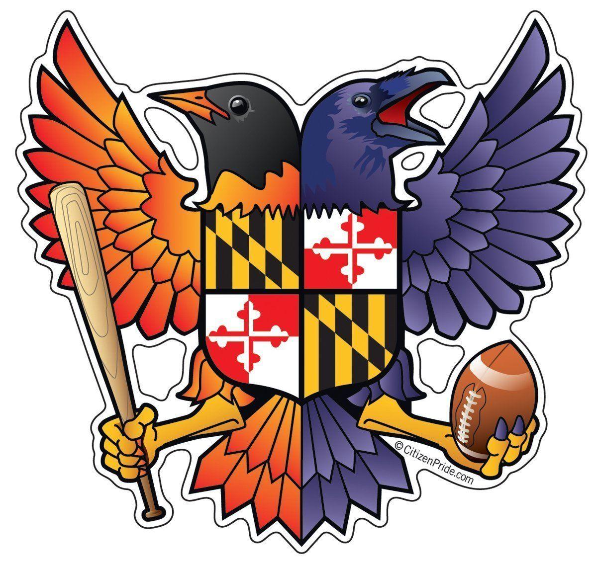 Birdland Baltimore Raven and Oriole Maryland Shield