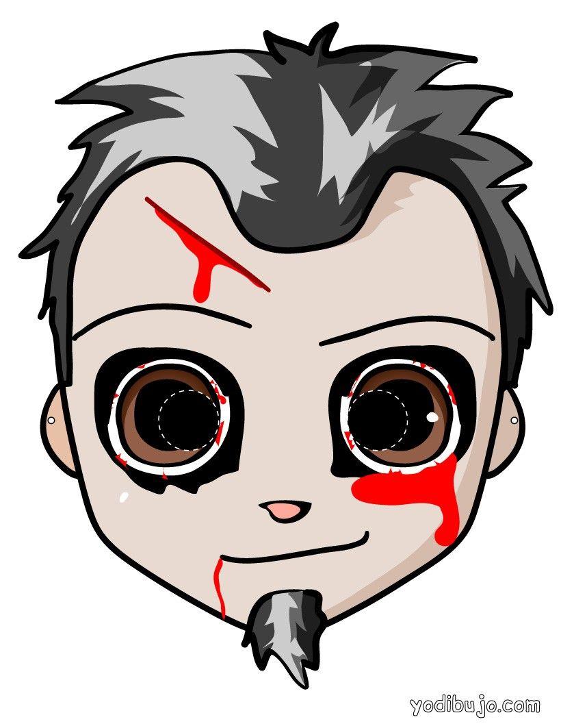 mascaras de zombies para colorear - Buscar con Google | maske ...