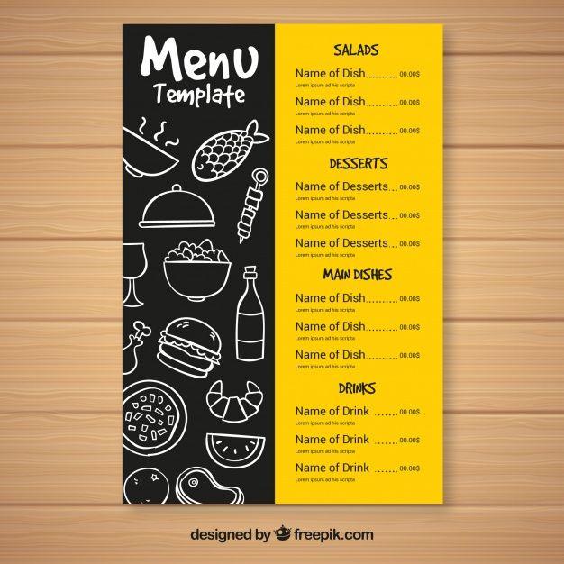 Plantilla de menú de comida rápida Vector Gratis | elementos de ...