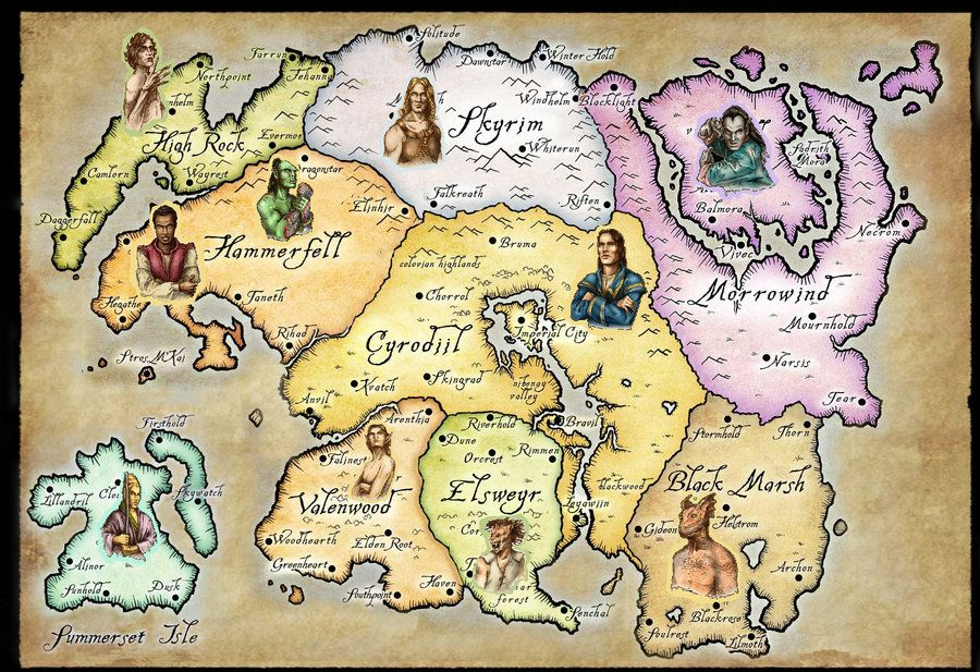 The Races of Tamriel by TehWoodElf on deviantART | Saving the ...