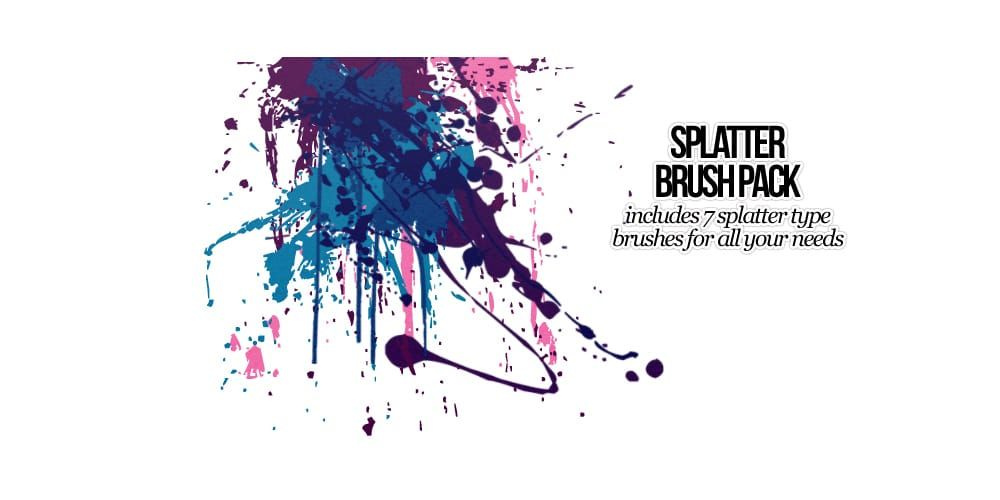 High Resolution Photoshop Splatter Brushes Free Download