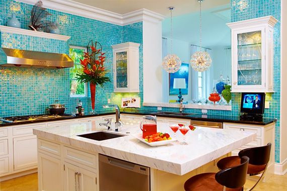 Charming Wild Kitchen Colors, Practical Approaches: Playing The Blues