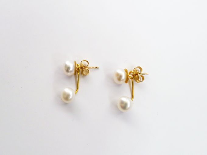 Thanks I Made It Diy Double Pearl Earrings