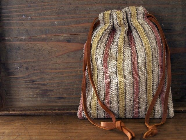iichi - HandMade in Japan - I love hippie bags like this.