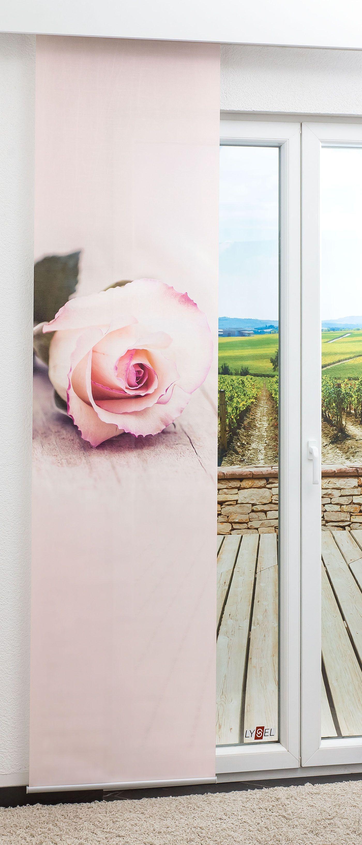 Artikelbildschiebegardine Rose 0a Flächenvorhang
