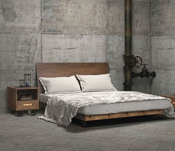 #Industrial style #bedroom with a dash of #Steampunk