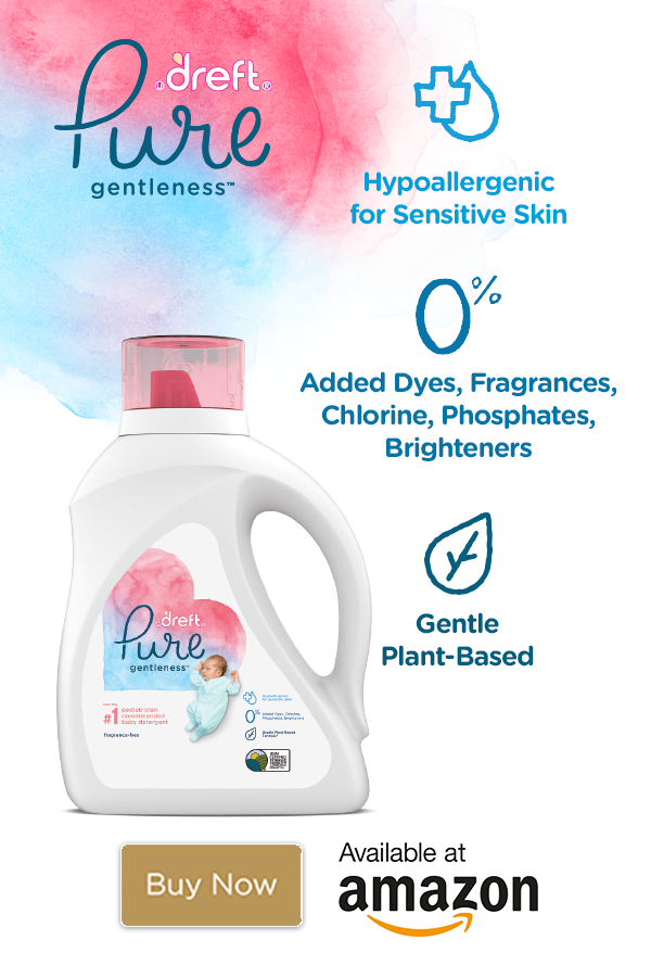 Dreft Pure Gentleness Is A Hypoallergenic Laundry Detergent From