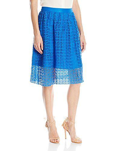 Kensie Women's Diamond Grid Lace Skirt, Bright Cobalt, Medium- #fashion #Apparel find more at lowpricebooks.co - #fashion