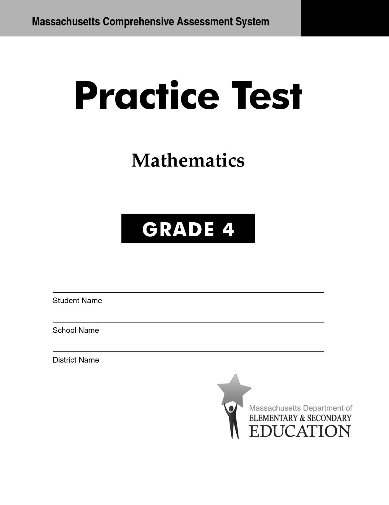 Worksheet Maths Grade 4 Tests worksheet maths grade 4 tests mikyu free test paper for sbac math practice worksheet