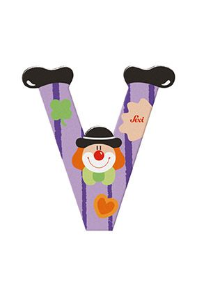 Sevi Wooden Clown Letters image by Penny Bobbin Toys