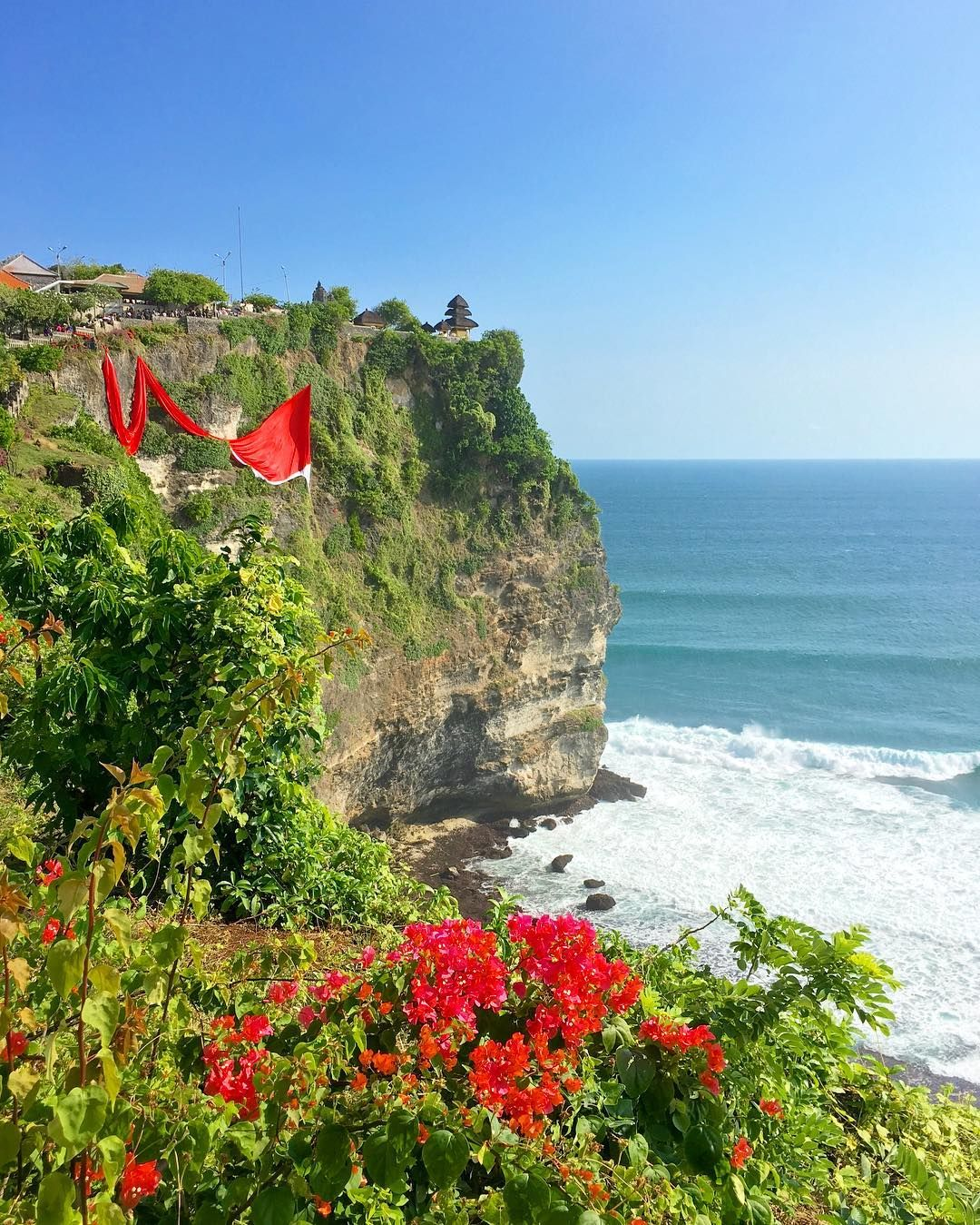 Uluwatu Temple Bali Located On The Edge Of A Cliff High Above The - Where is bali located