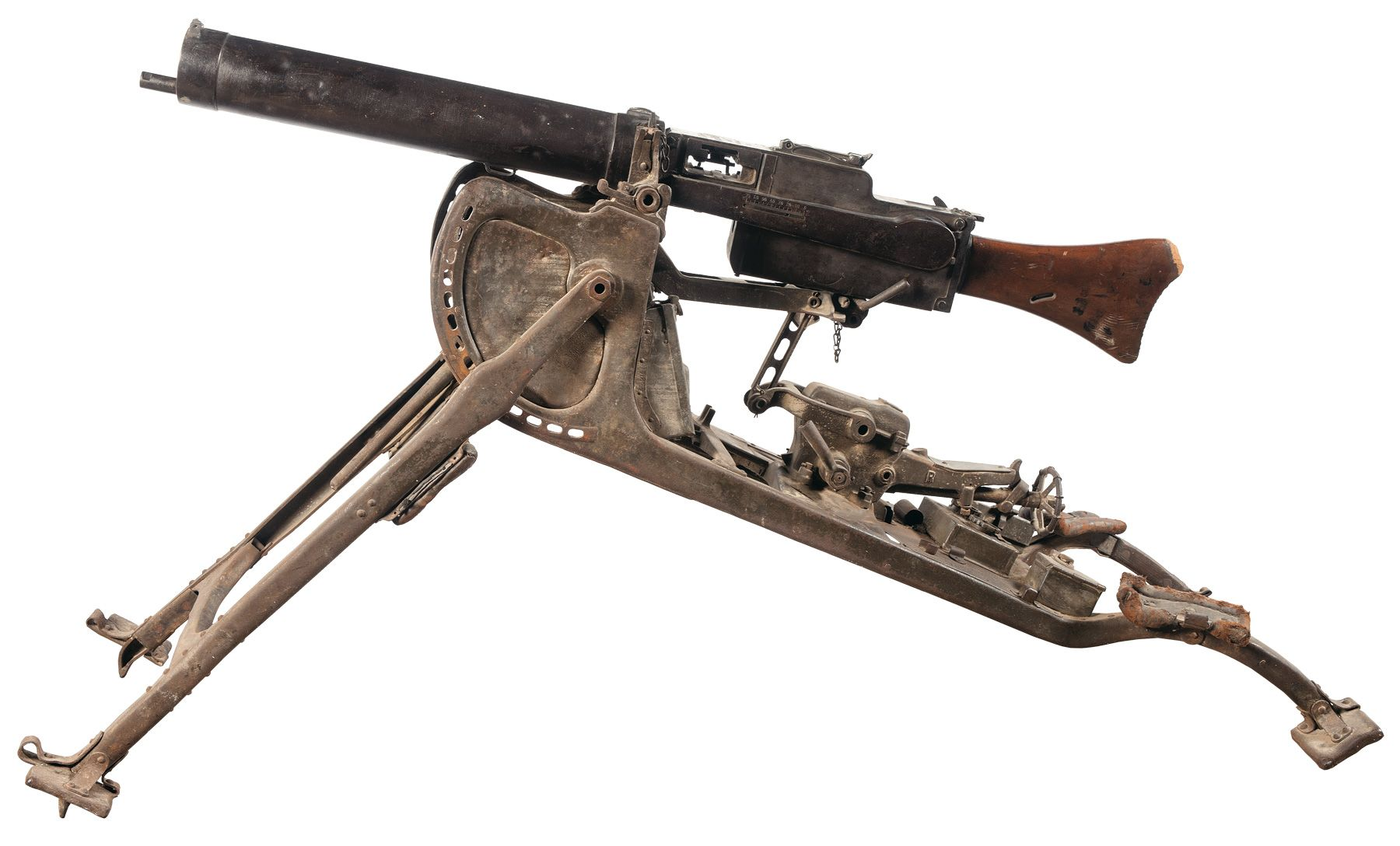 wwi maxim machine gun