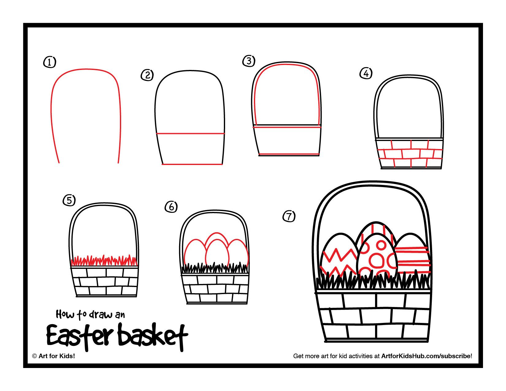 How To Draw An Easter Basket - Art For Kids Hub - | Basket ...