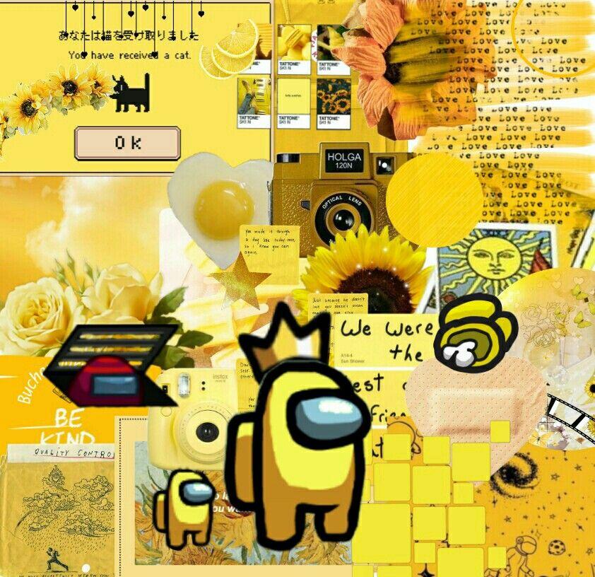 Among Us Yellow Kuning