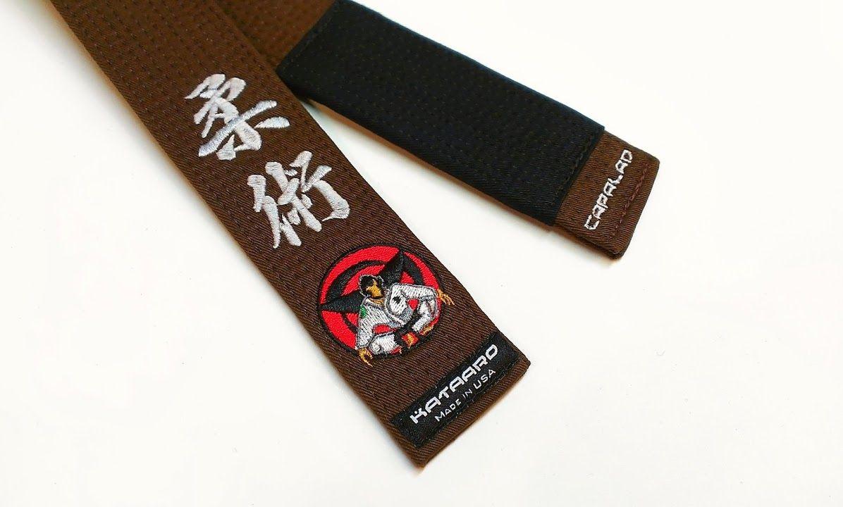 Embroidered Jujitsu Rank Belt - Deluxe | Martial Arts