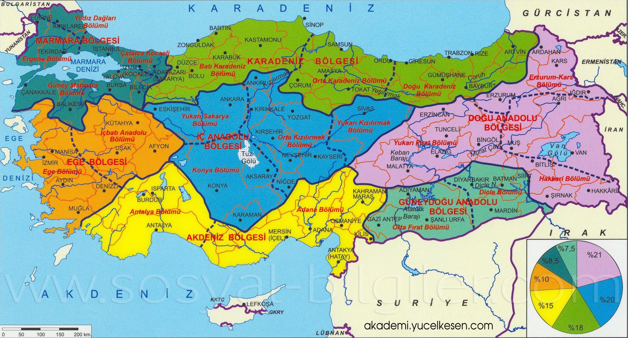 Turkiye Bolgeler Haritasi Ile Ilgili Gorsel Sonucu Harita Haritalar Cografya