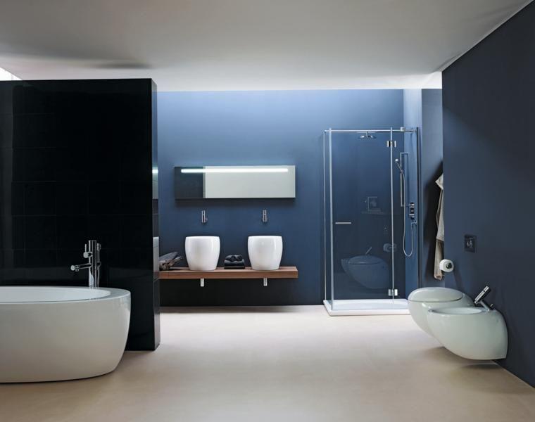 Farbige Bader Die Modischen Schattierungen Fur Das Jahr 2016 Wohnideen Fur Inspiration Hellblaue Badezimmer Badezimmer Dekor Blaues Badezimmer