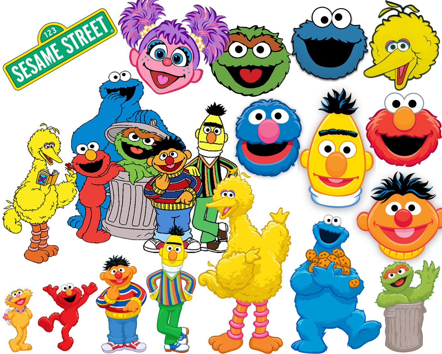 best collection of 130 sesame street clipart 130 high quality rh pinterest co uk sesame street clipart black and white sesame street clip art characters