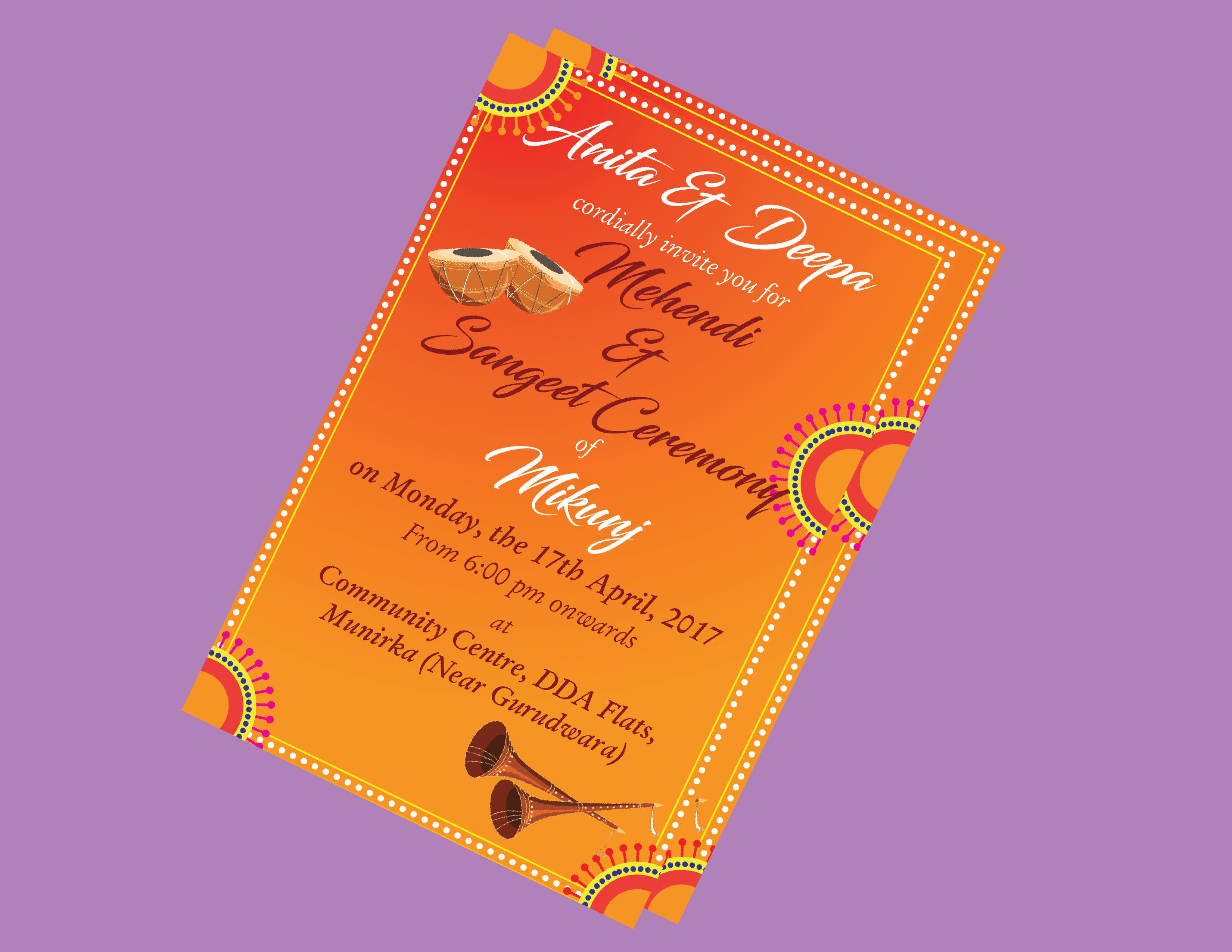 #Mehendi #Ladies Sangeet #Sangeet #invitation #Card #Groom #Night #fun #festive #dance #music #love #night #timetoclebrate #goodtimes #family #Adobeillustrator #colorful #night #nighttoremember
