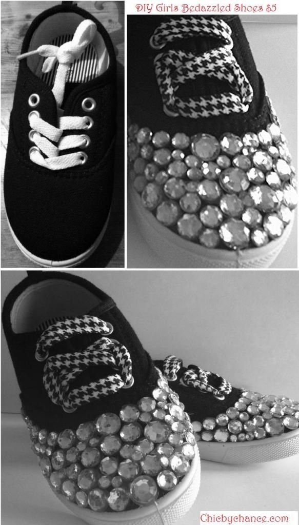 DIY Bedazzled Shoes! $5 shoes from Walmart for little girls
