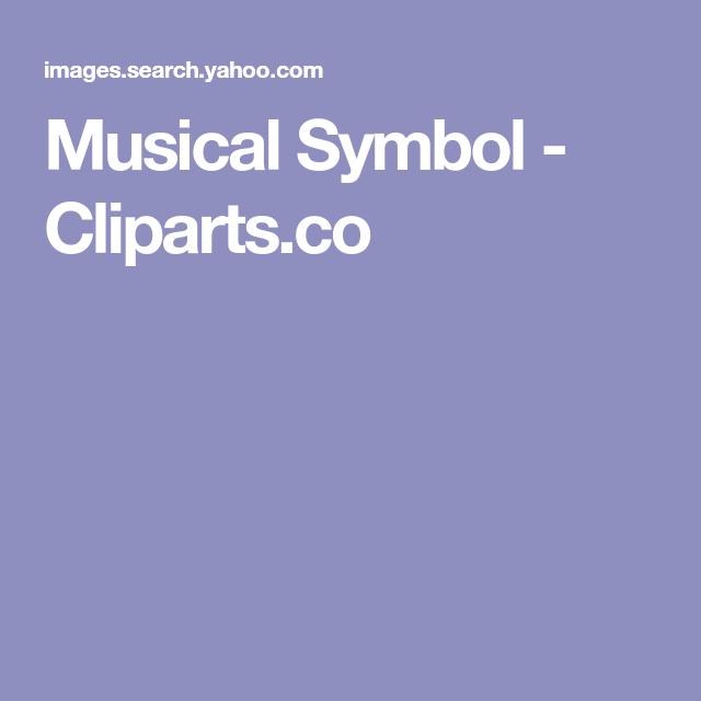 Musical Symbol - Cliparts.co | Geral | Pinterest | Symbols