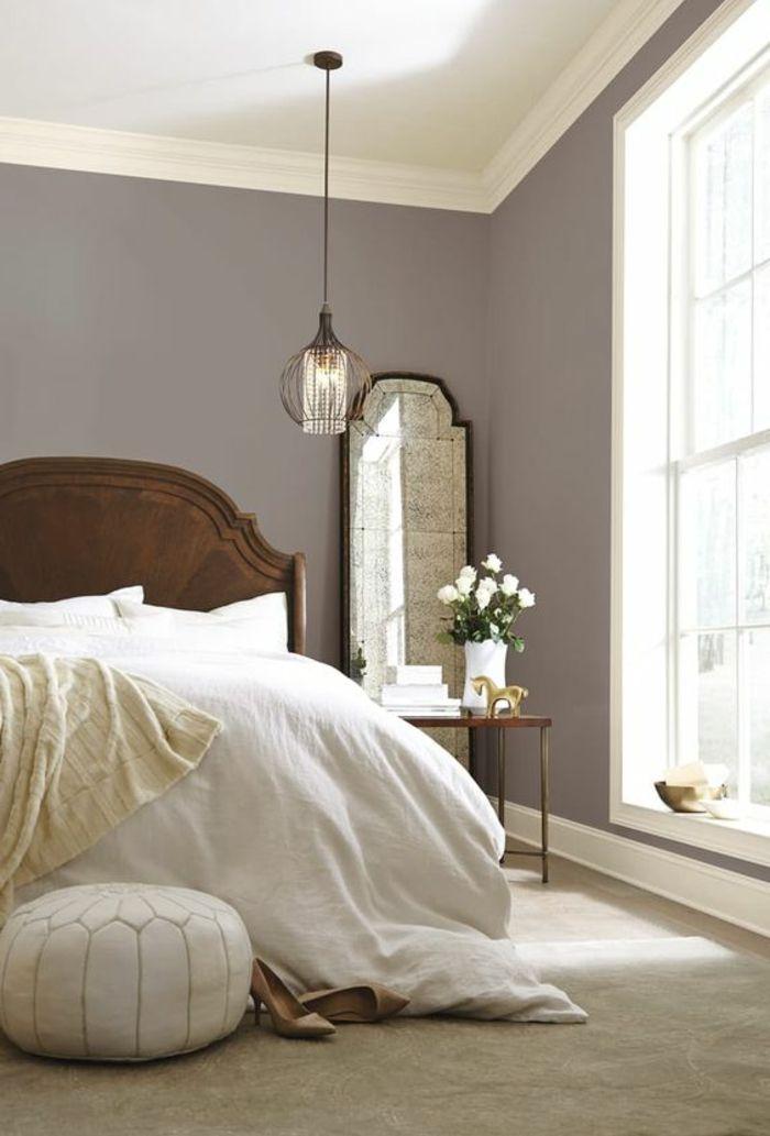 Schlafzimmer Le wandfarben poised taupe im schlafzimmer wandgestaltung tapeten