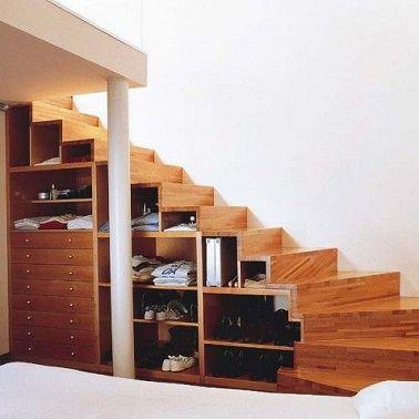 10 astuces rangement sous escalier fut es et pratiques dressing le placard et escaliers. Black Bedroom Furniture Sets. Home Design Ideas