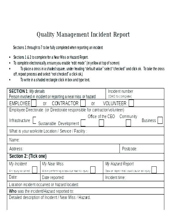 Hazard Incident Report Form Template 5 Templates Example Templates Example Incident Report Incident Report Form Report