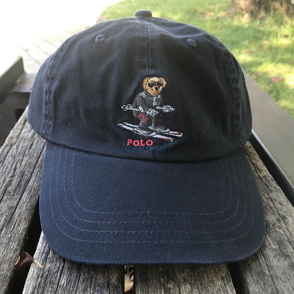 8e929c7edb Limited Edition Polo Ski Bear Logo Cap Navy Football Baseball Gym ...
