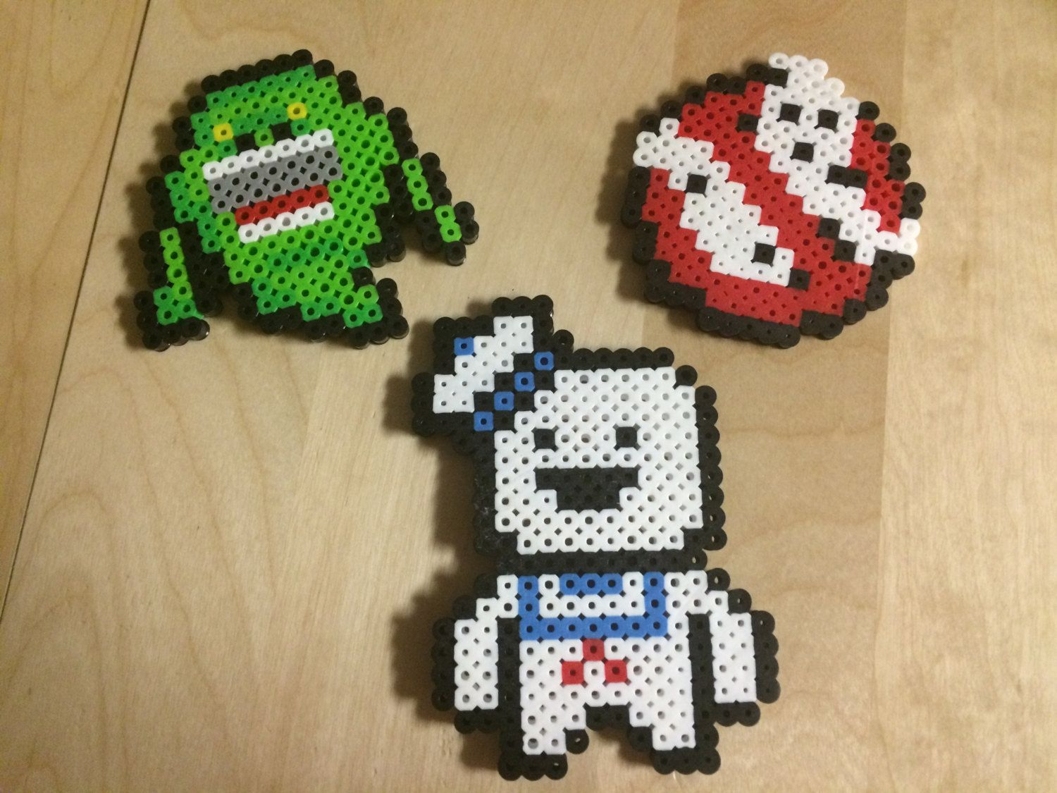 Ghostbusters perler beads mixed media art pinterest - Motif perle a repasser ...