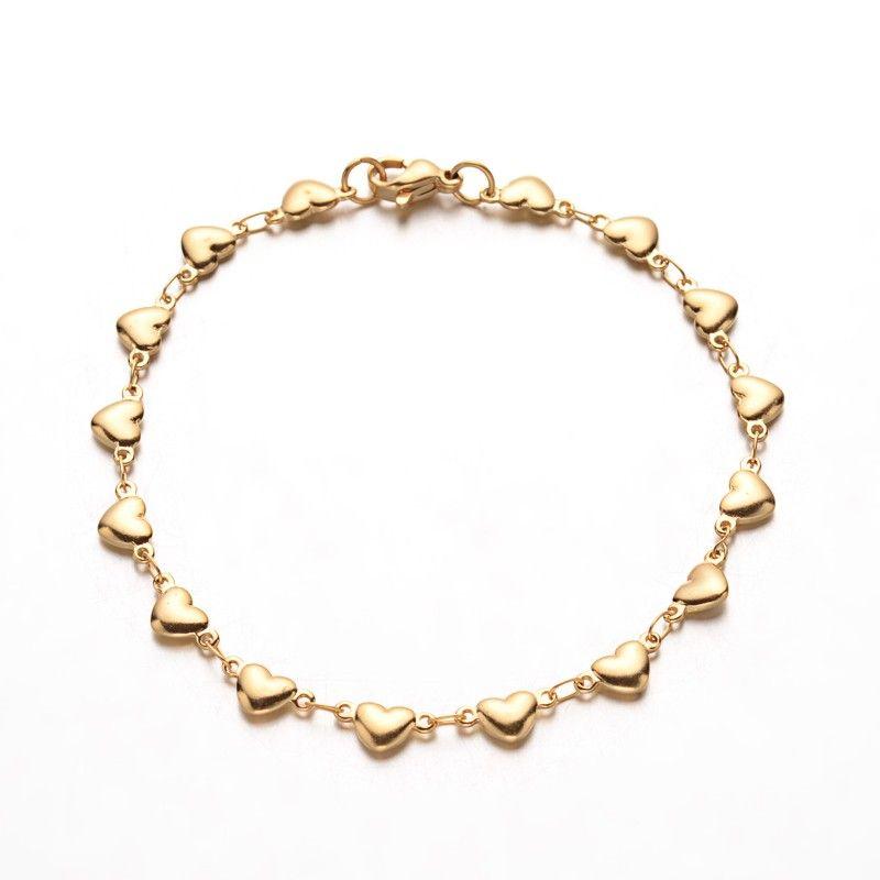 80865e2e4 NR3338GOC Oceľový náramok so srdiečkami : Šperky Swarovski, SuperSperky.sk