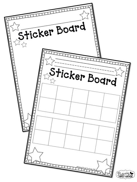 Stick To Good Behavior Sticker Board Classroom Management Motivator