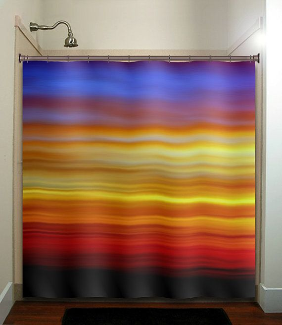Beautiful Color Cloud Sky Sunrise Sunset Shower Curtain Bathroom Decor Fabric Kids Bath White Black Custom Duvet Cover Rug Mat Window On Etsy 6500