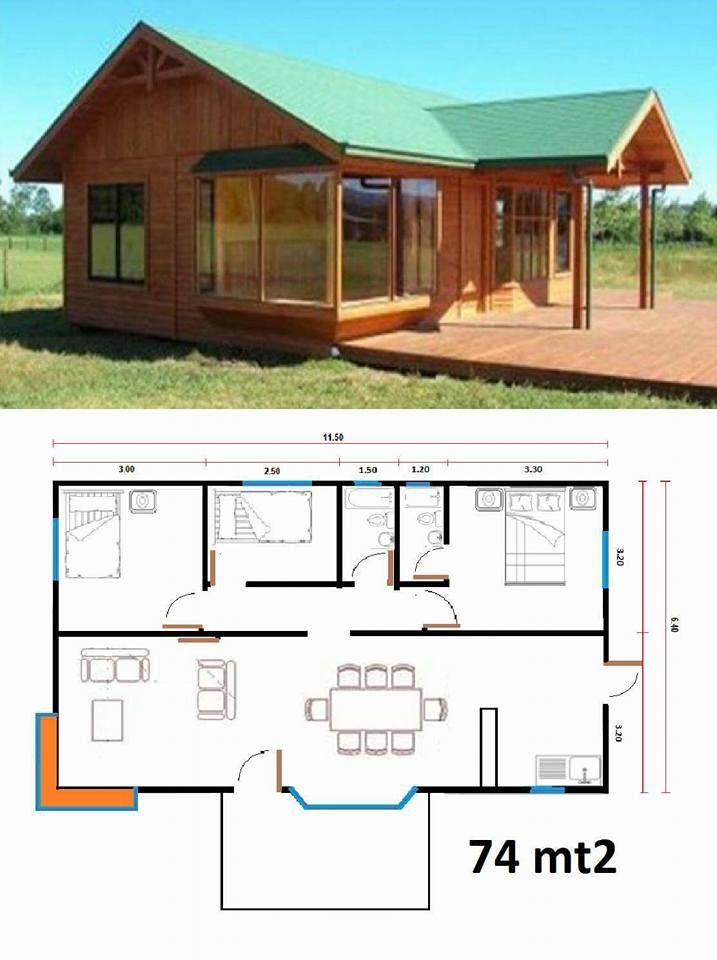 Pin by dick lao on cabin casas casas de campo planos for Casas prefabricadas pequenas