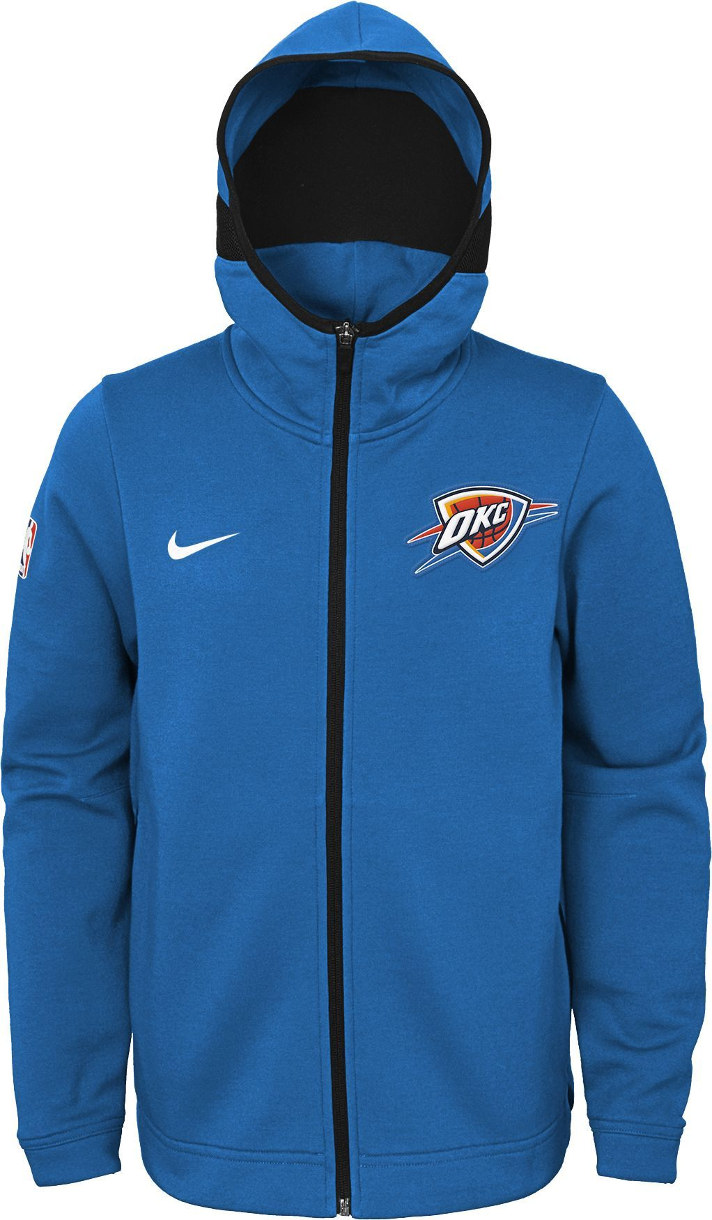 sale retailer c7ae7 5a213 Nike Youth Oklahoma City Thunder On-Court Blue Dri-FIT ...