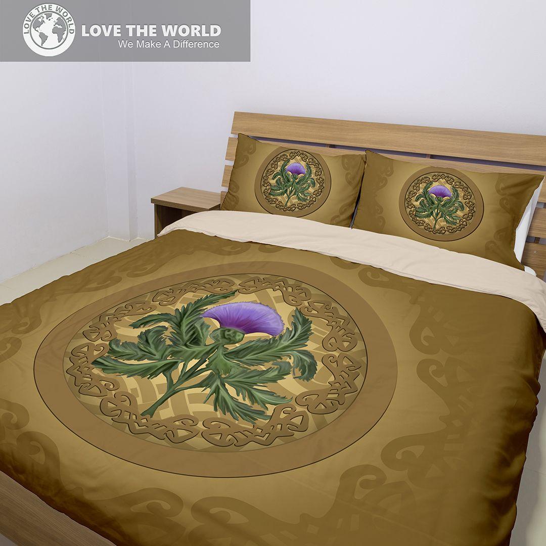 Luxurious thistle scottish bedding set bn best of scotland