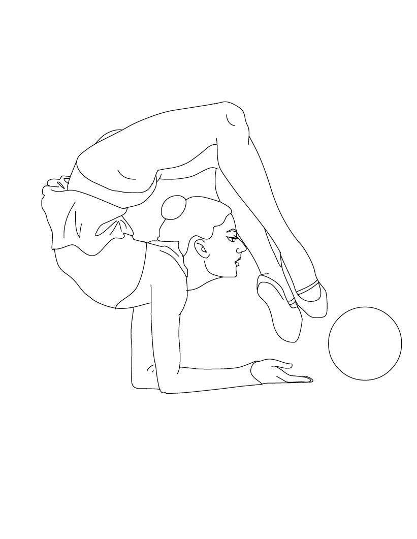 Free Printable Gymnastics Coloring Pages For Kids In 2021 Dance Coloring Pages Dancing Drawings Coloring Pages [ 1061 x 821 Pixel ]