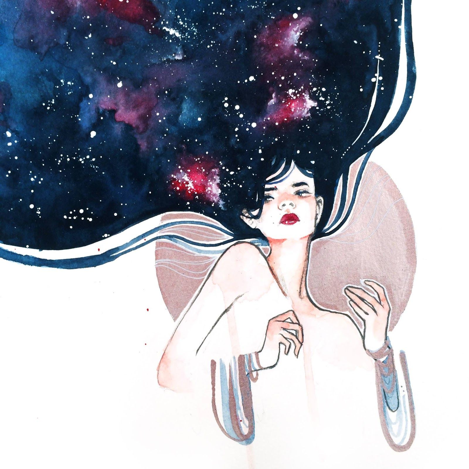 Art, Watercolor Galaxy